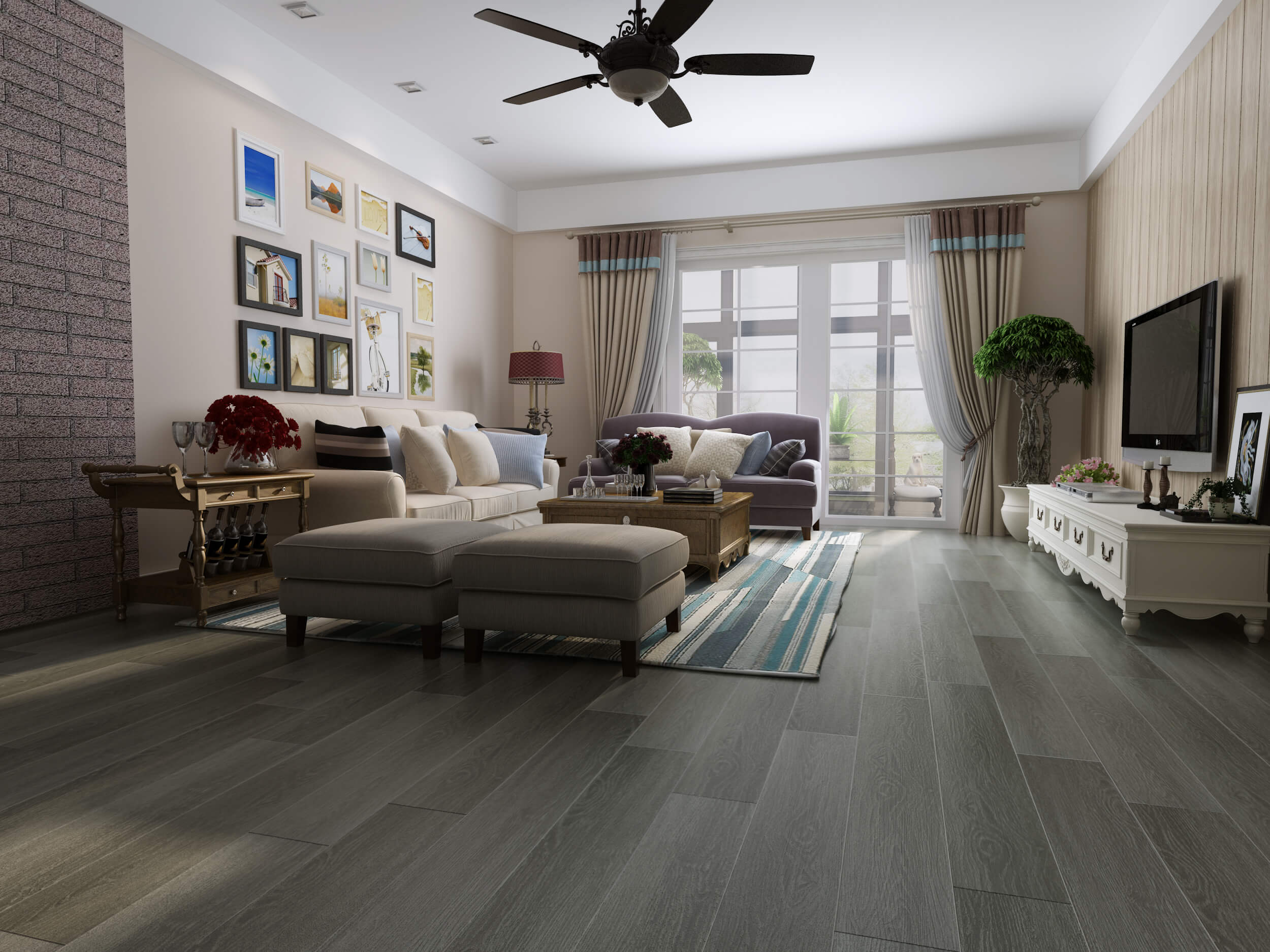 Impervia Light Grey Oak luxury Vinyl Flooring