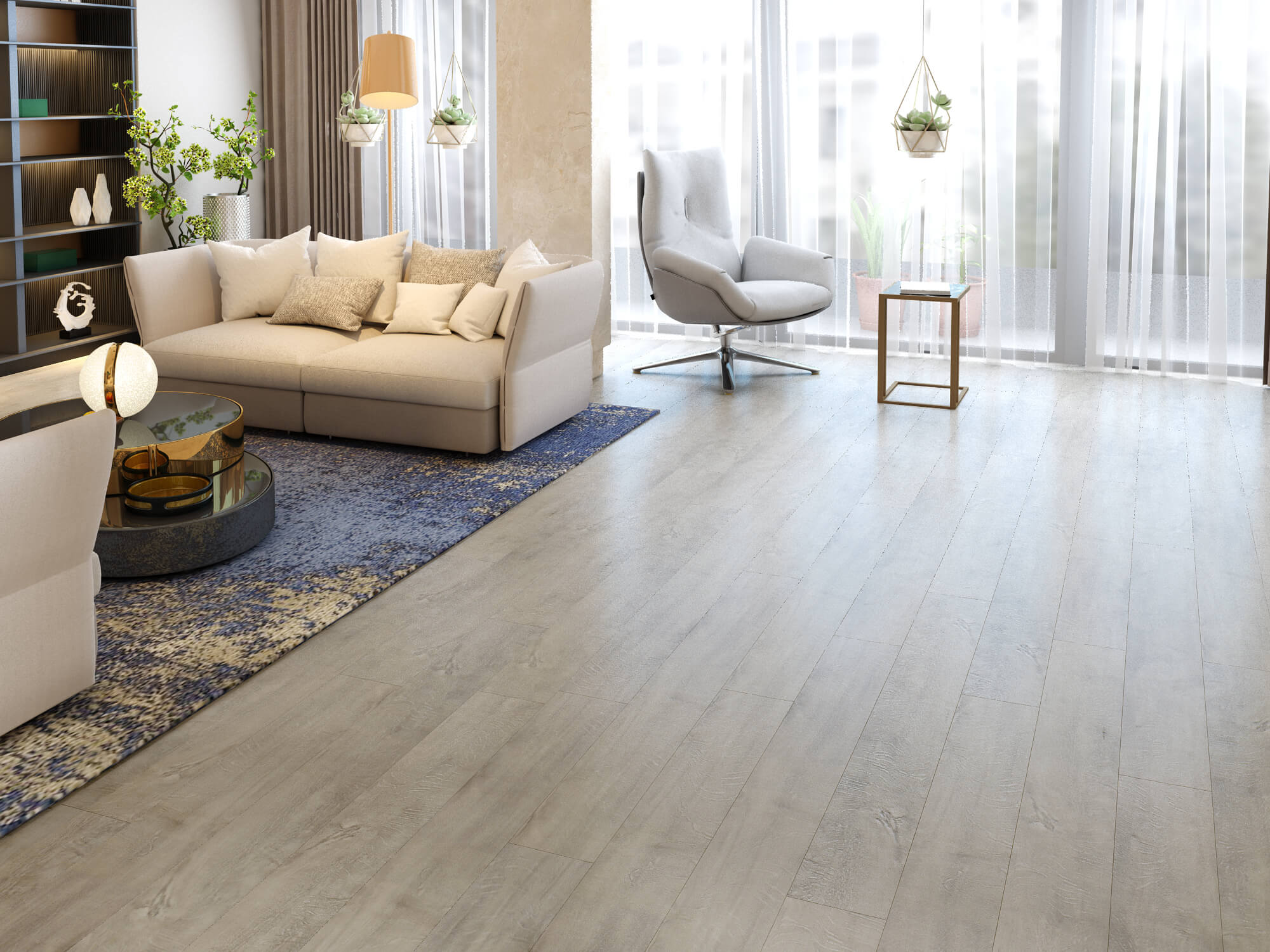Impervia Light Dove Grey Oak luxury Vinyl Flooring