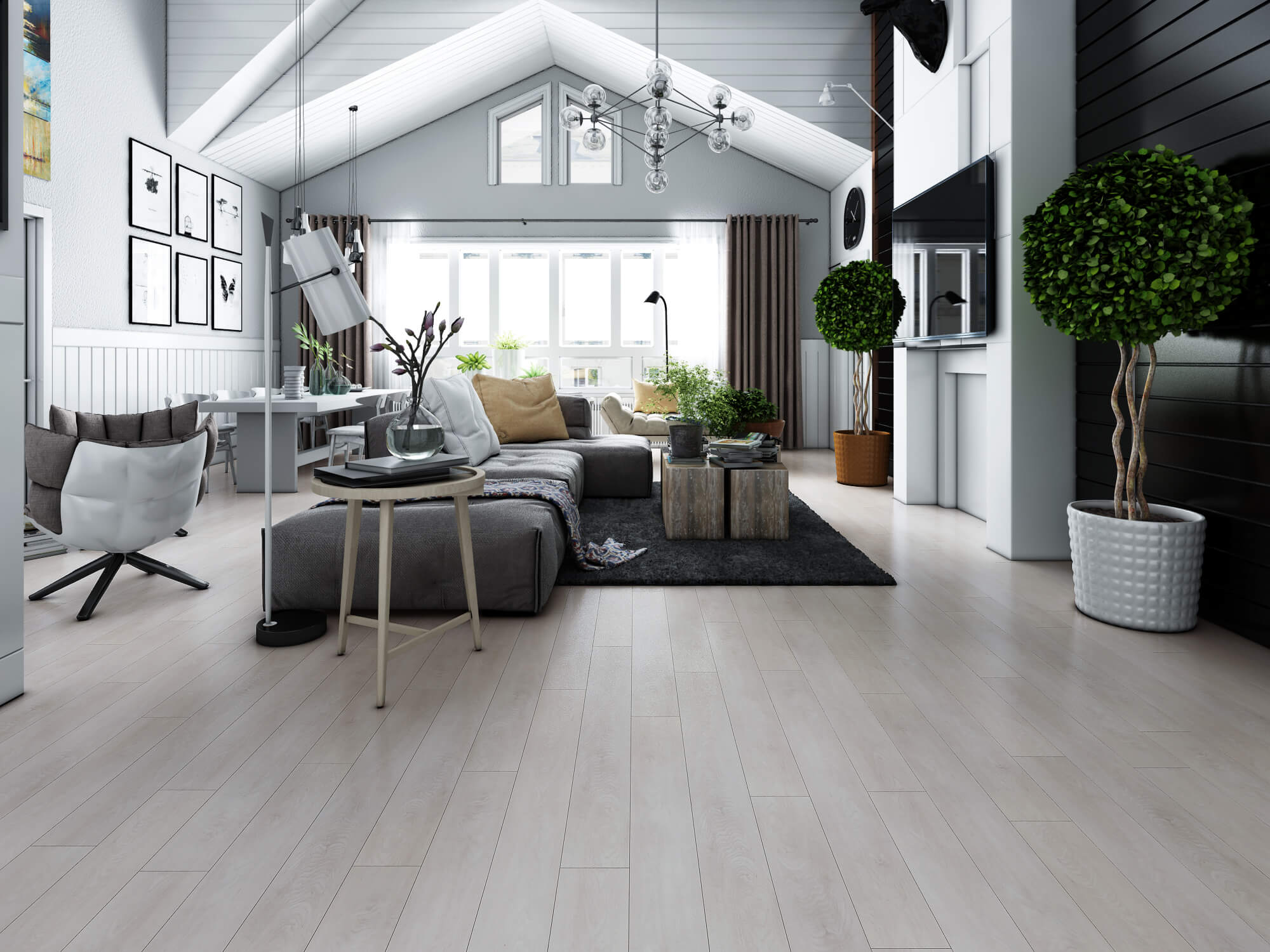 Impervia Pure Snow White Oak Luxury Vinyl Flooring