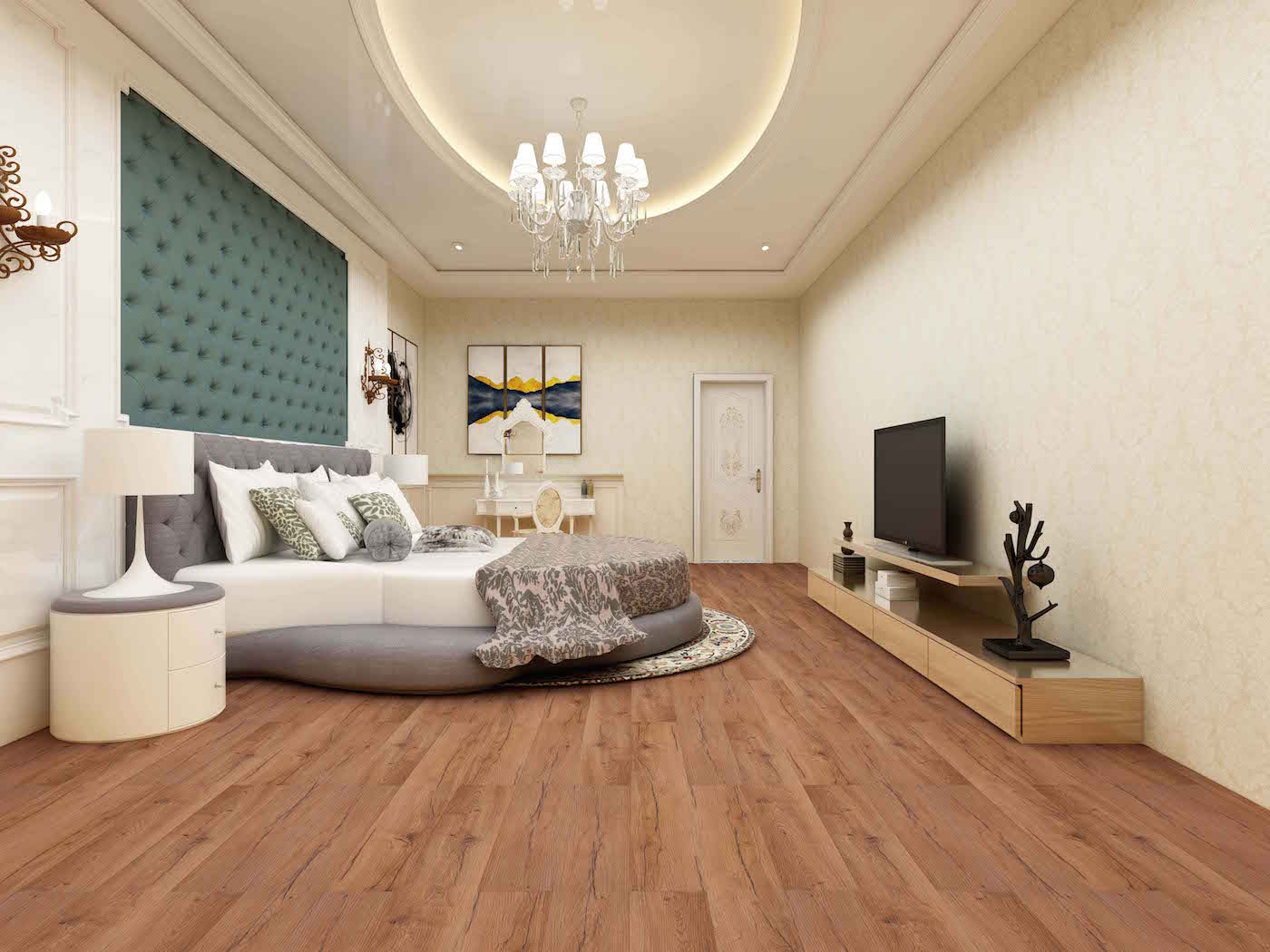 Impervia Red Rustic Streaked Oak Luxury Vinyl Flooring