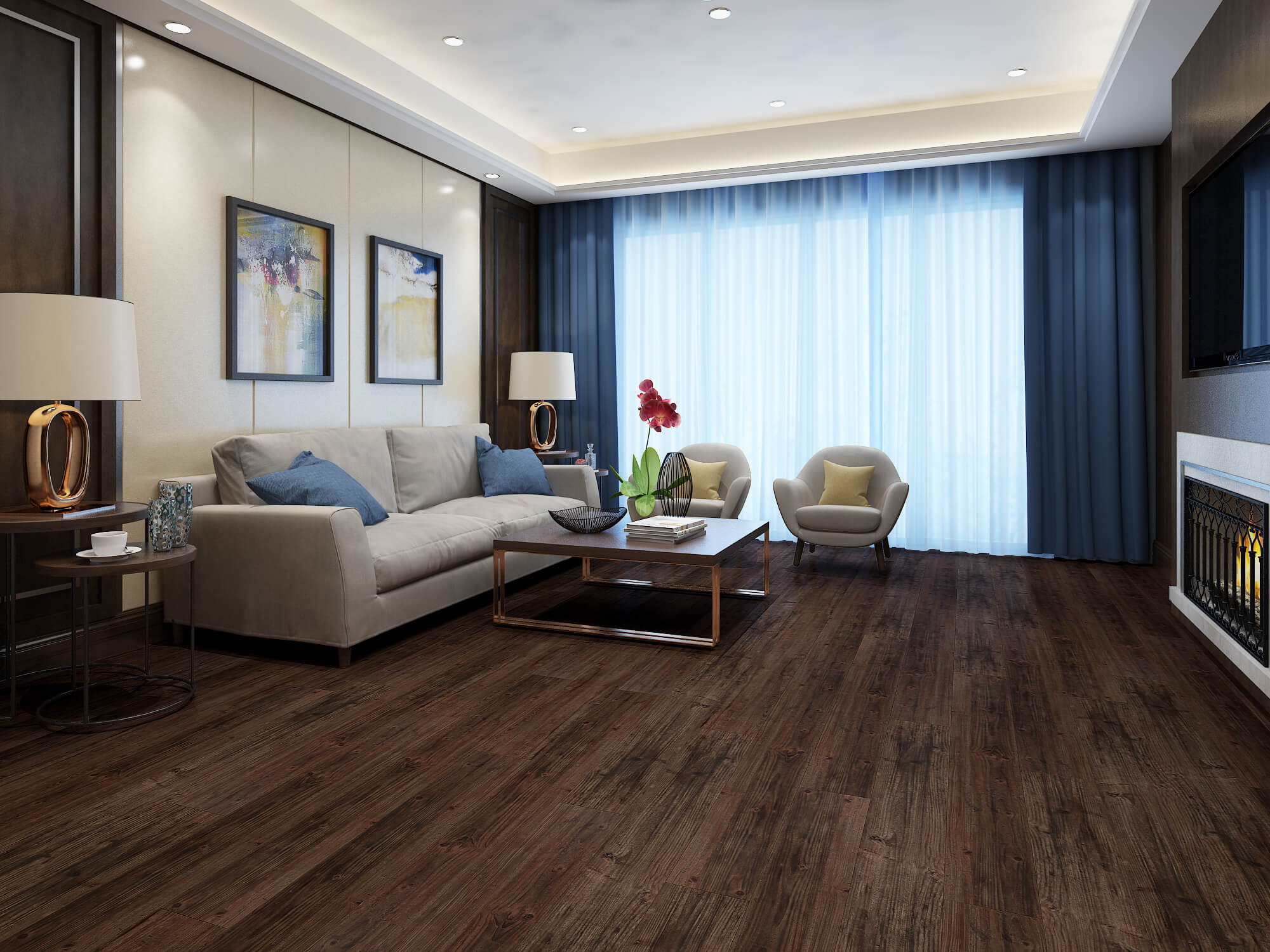 Impervia Royla Cocoa Oak Luxury Vinyl Flooring