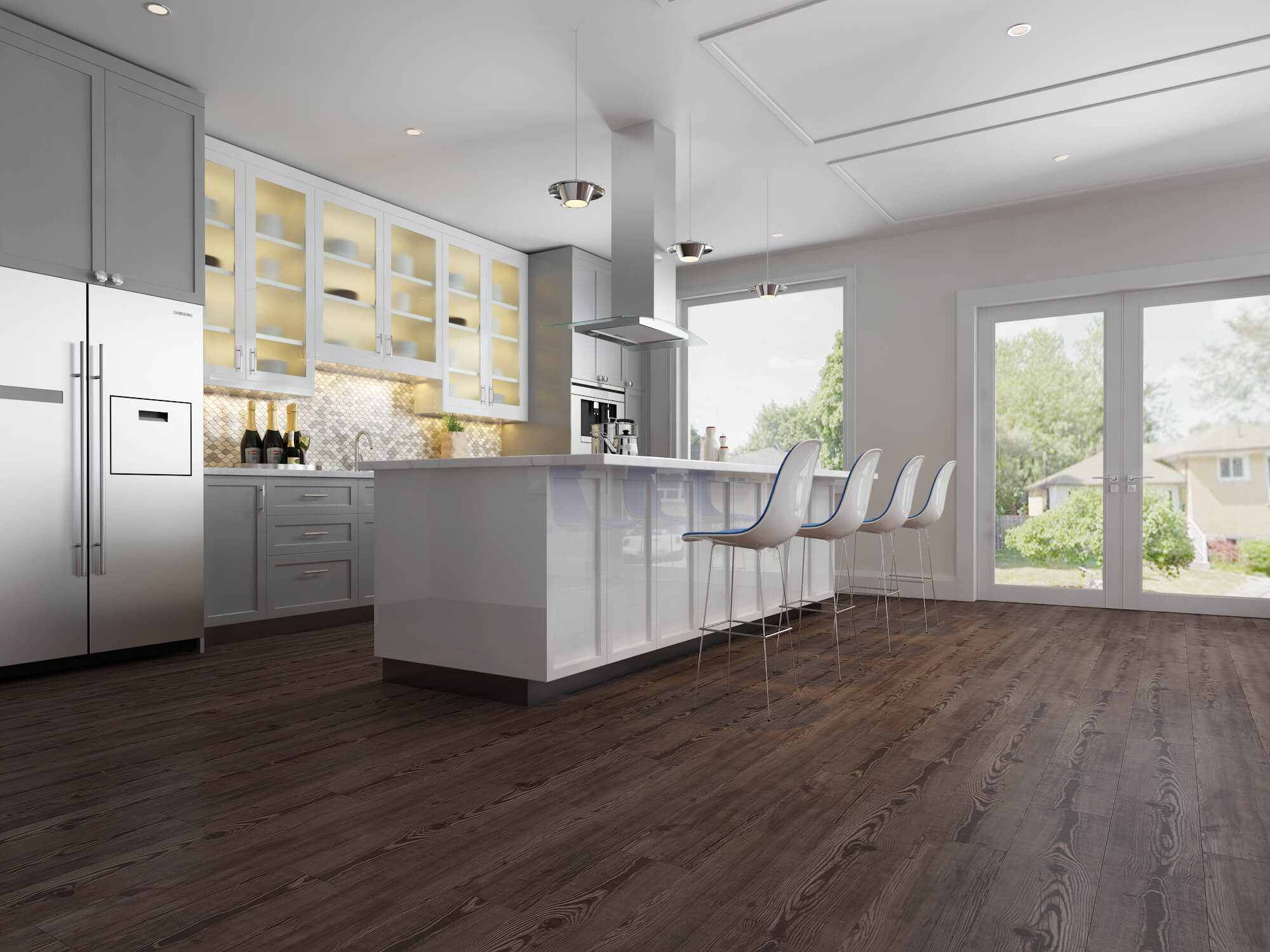 Impervia SPC Luxury Vinyl Flooring Fumed Oak