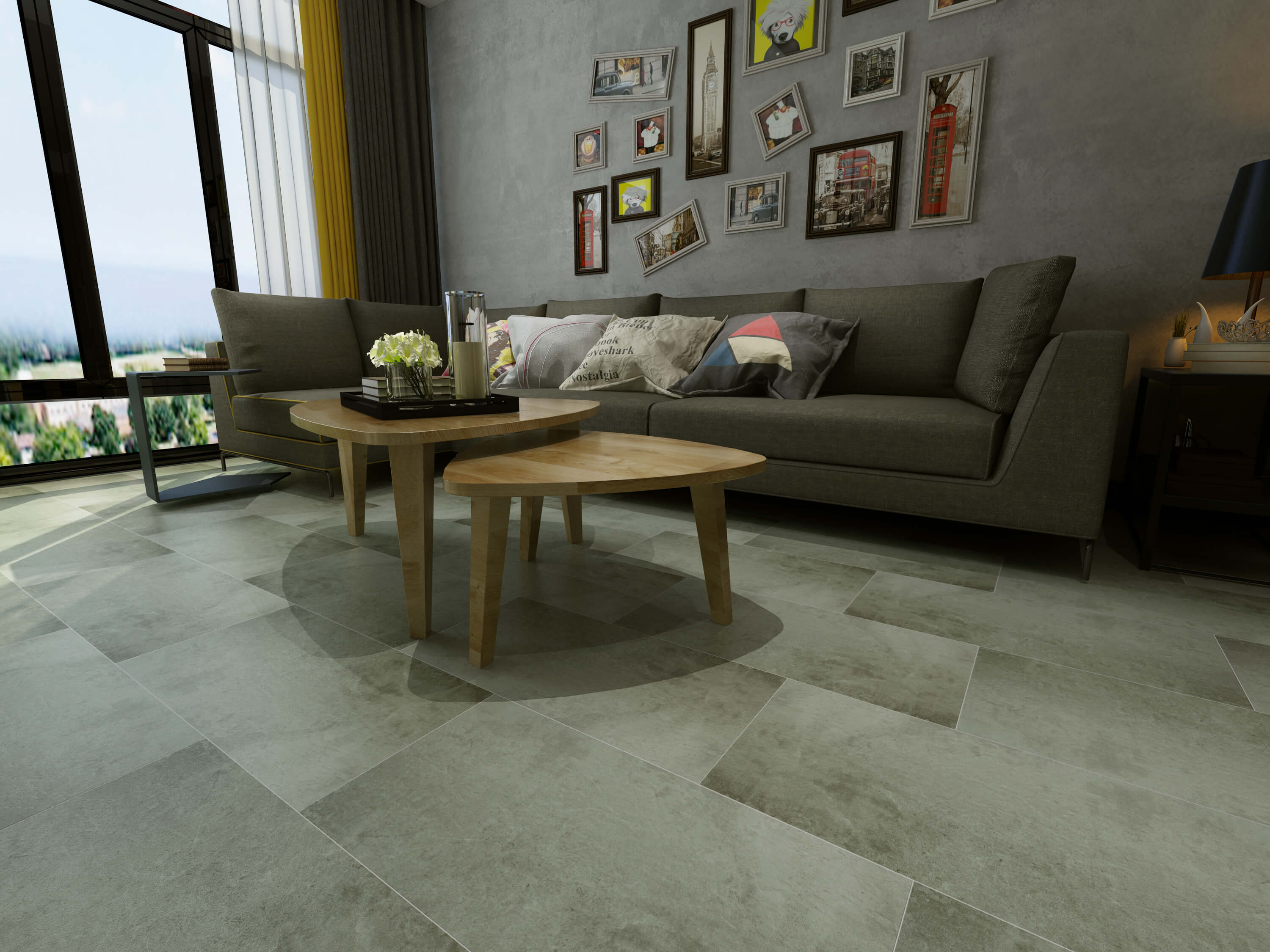 Impervia Sea Grey Oak Luxury Vinyl Tile Flooring