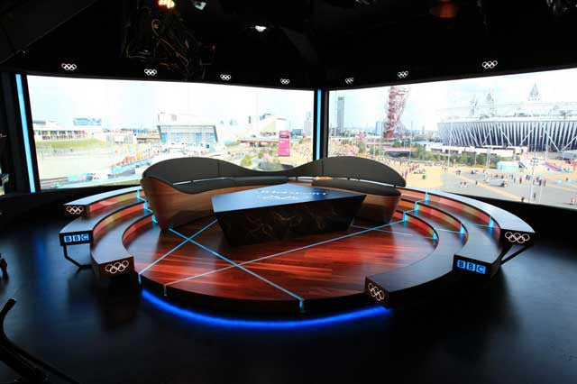 Wooden flooring used in BBC TV studio