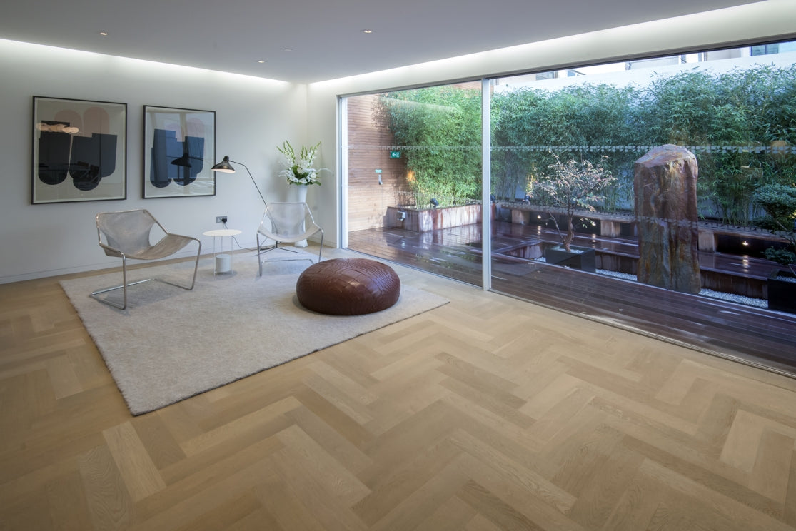 Lightly Fumed Parquet Oiled Oak flooring