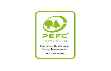 PEFC Certified Logo, authenticated supplier of wood flooring.