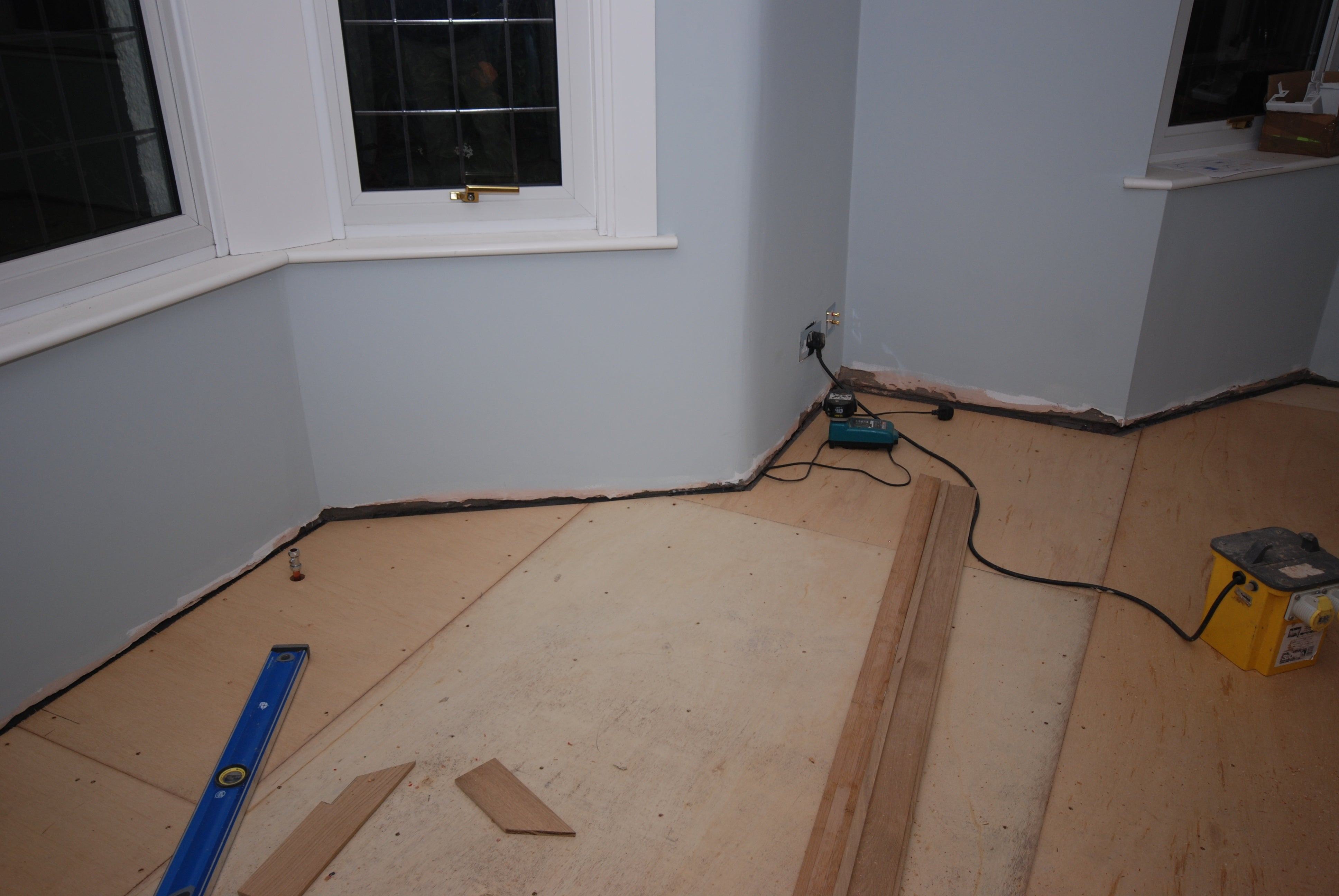 preparing subfloor for installation of wood floor