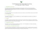 Commitments of the TTF Responsible Purchasing Policy