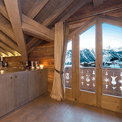 White Oiled Oak in a Courchevel Ski Chalet