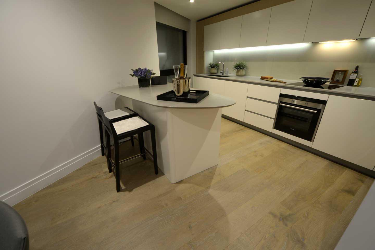 Brushed Fire Fumed Oak Flooring Lacquered Finish