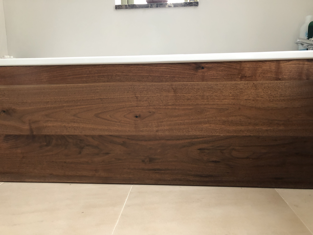 Engineered Wood Flooring used as Cladding for Baths