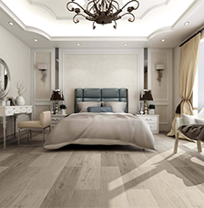 French Grey Luxury SPC Rigid Impervia Vinyl Flooring