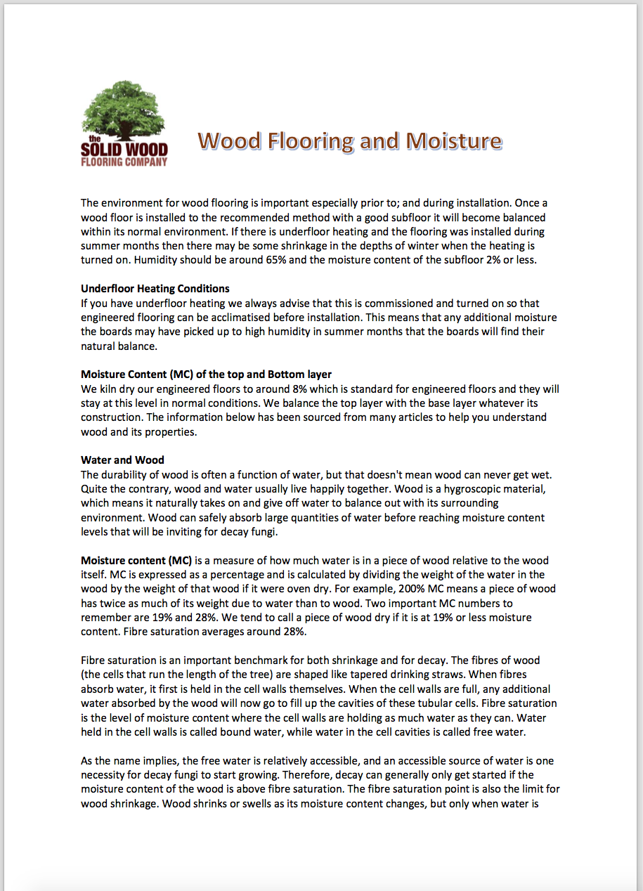 Wood and Moisture
