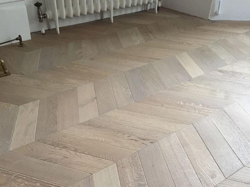 Antique Chevron Parquet in London Townhouse
