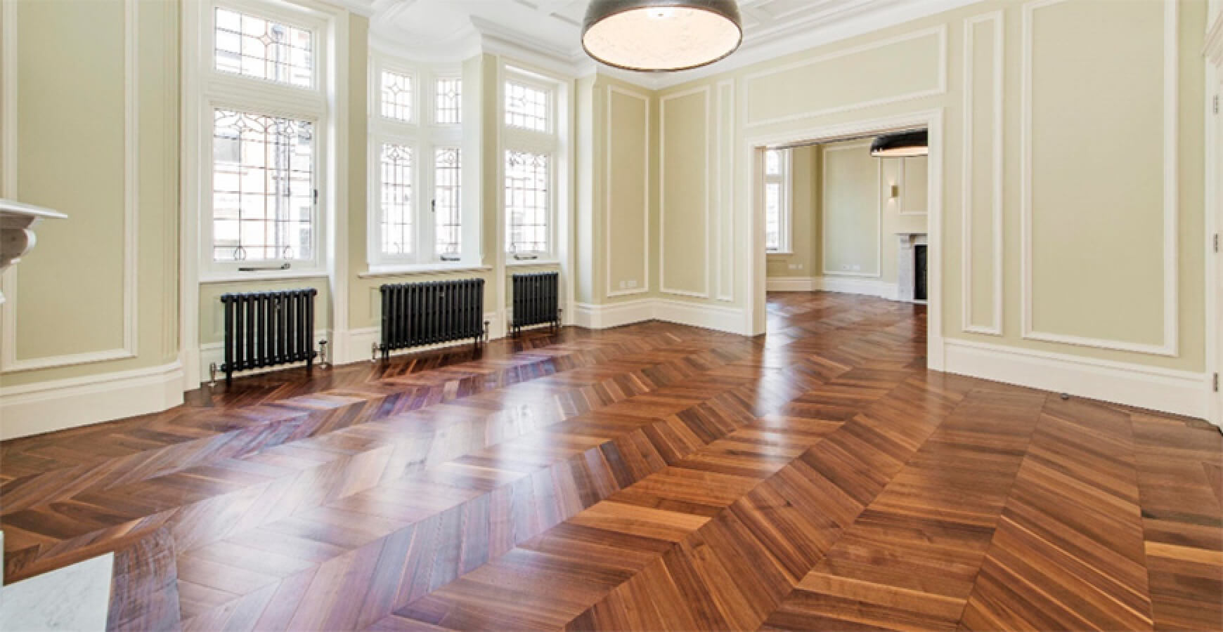 Walnut Chevron Parquet Wood Flooring Engineered