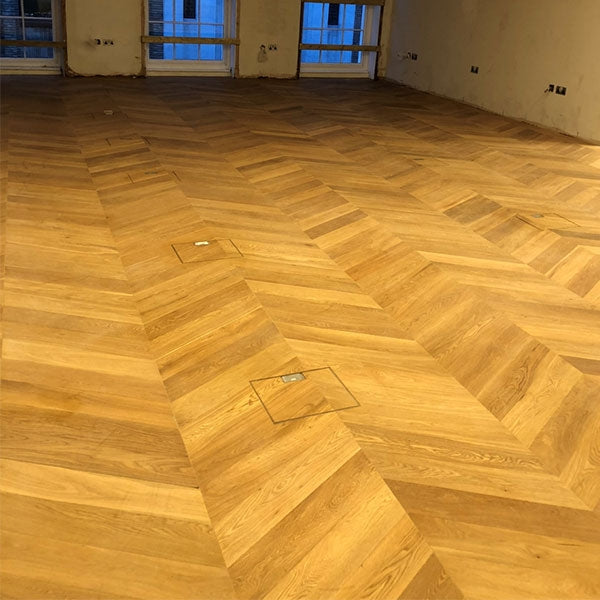 60-degree Chevron Parquet Flooring