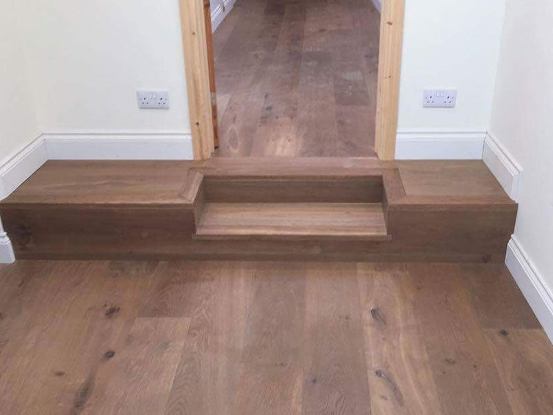 Wood flooring clad steps