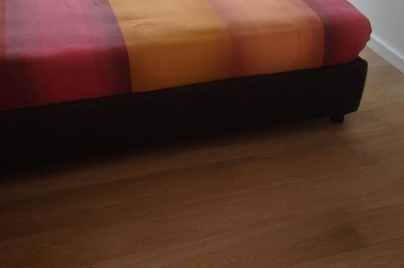 E124 Fumed Oak floor in a bedroom