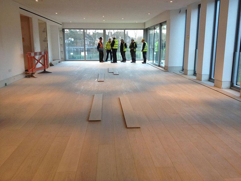 E158 oak floor in Design Museum