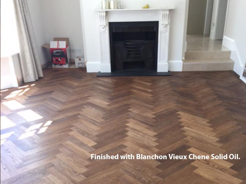 Herringbone Parquet Block Fumed Unfinished Oak | TW-E930