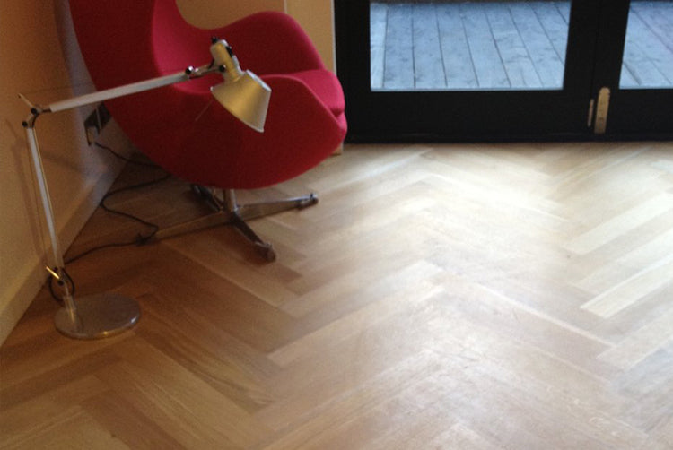 quarter sawn parquet flooring fitted in a house