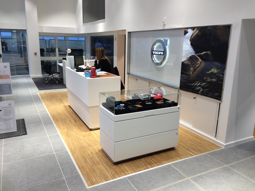 Fineline oak in a Volvo Showroom