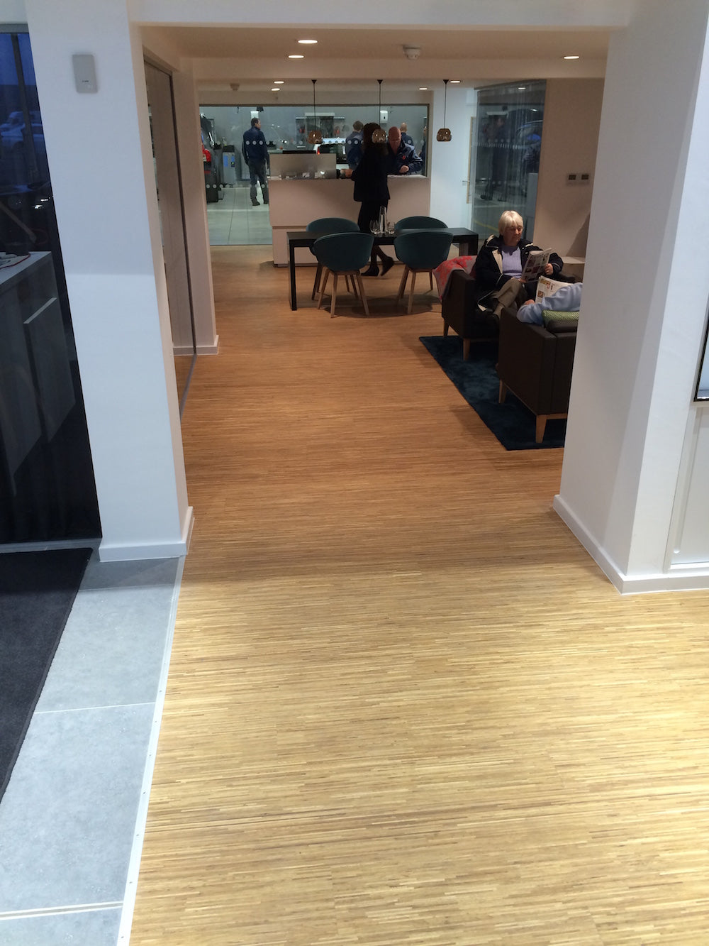 Malton Volvo showroom with Fineline oak floor