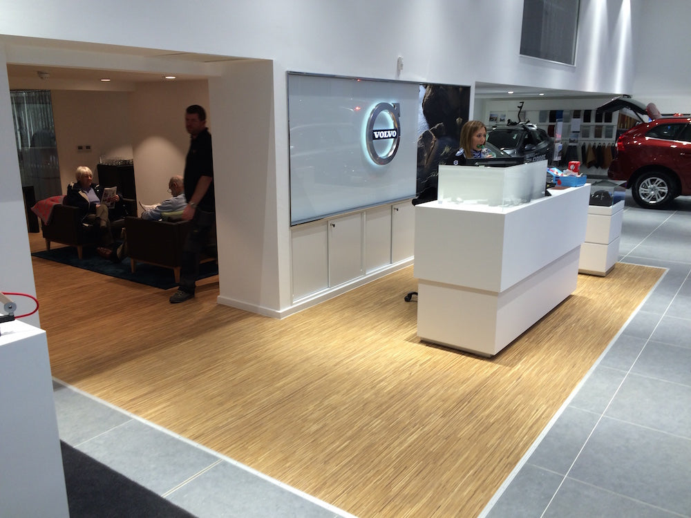 Fineline Oiled Oak flooring at Malton Volvo