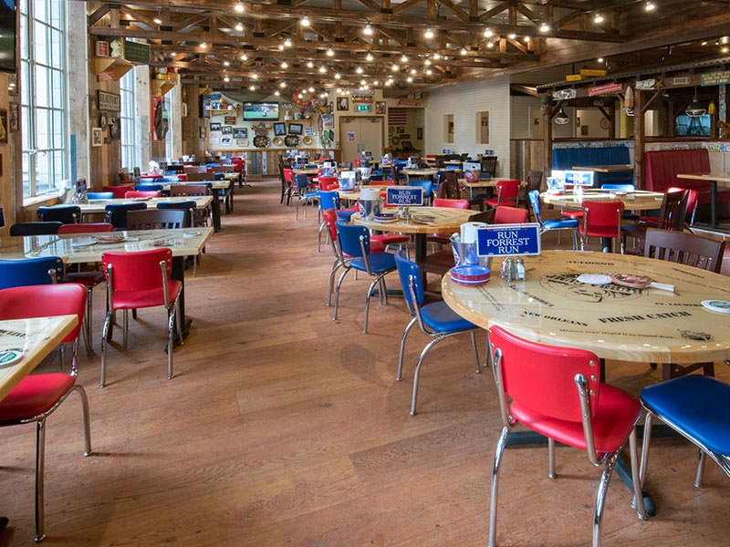 The Finished Floor at Bubba Gump Restaurant