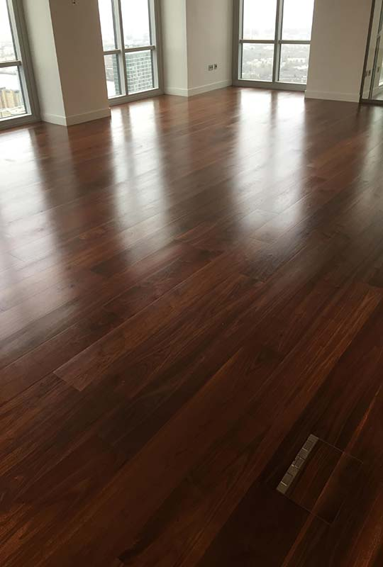 Black American Walnut Flooring Hard Wax Oil Finish