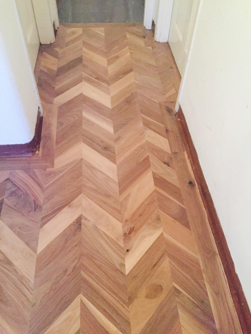 Walnut Chevron Flooring E932