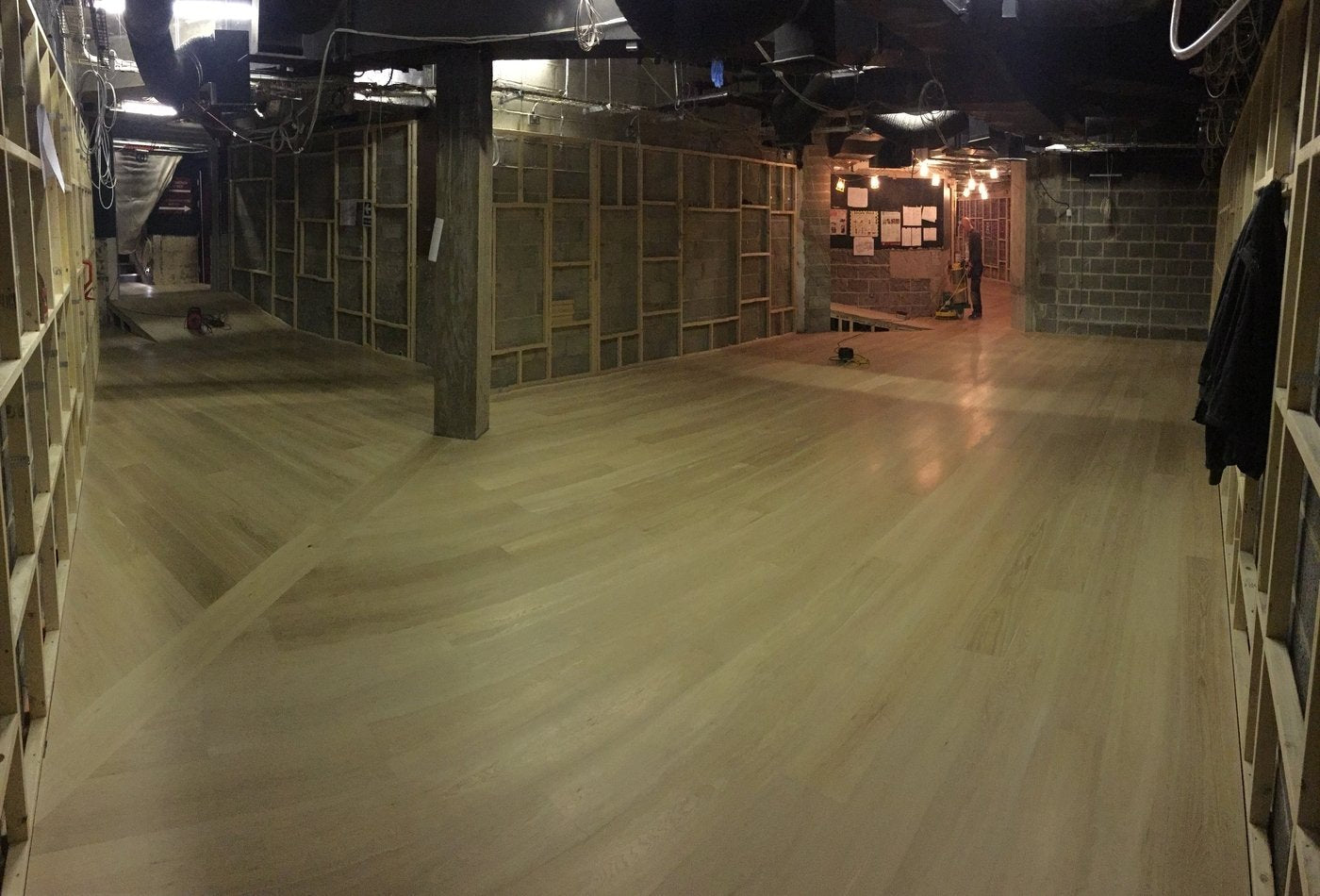Unfinished prime grade wide flooring