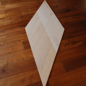 Special Design Chevron Type White Oiled Maple Flooring