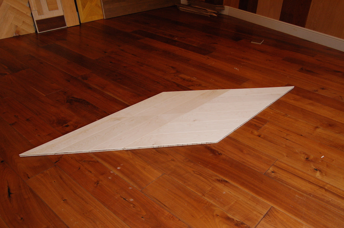 Specially Designed Chevron type White oiled Maple Flooring