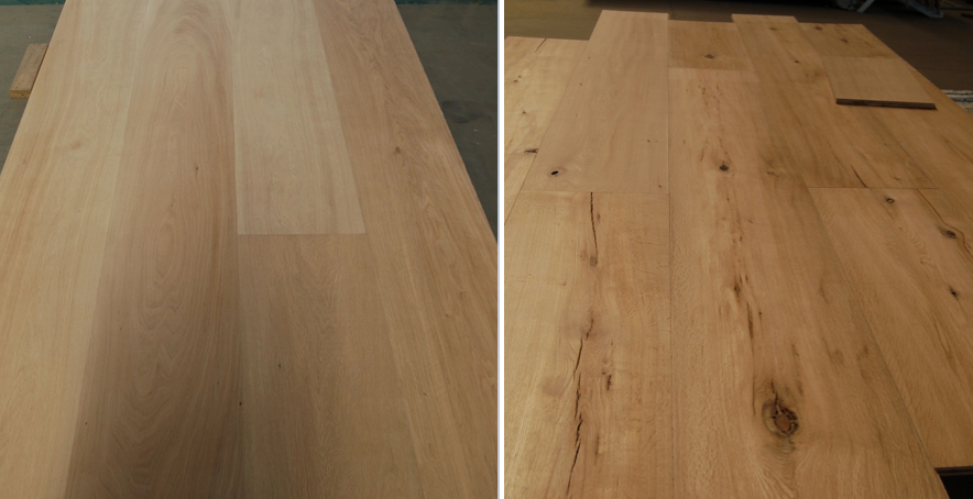 raw material variation in oak