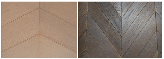 Chevron Parquet Wood Floors 60 and 45 degrees
