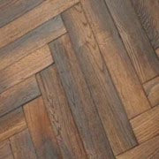 Engineered Antique Fumed Oak Parquet UV Oil Finish