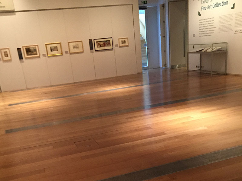 Oak flooring in museum