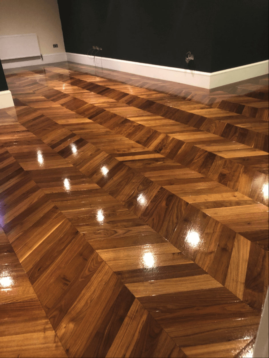 Gloss-Finish-Chevron-Flooring