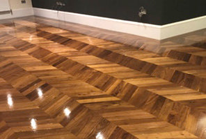 How to make Oiled American Black Walnut Chevron with a Semi Gloss Finish