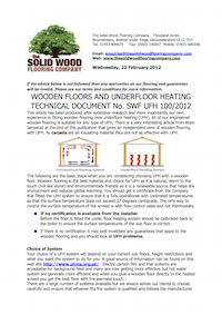 underfloor heating guide