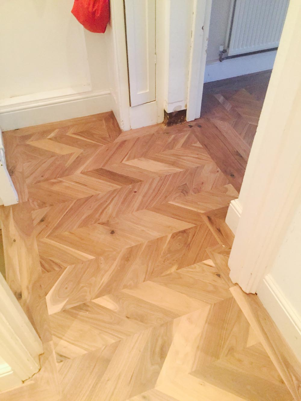 Walnut Chevron in a home