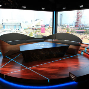 Walnut Flooring in the Olympic Studio