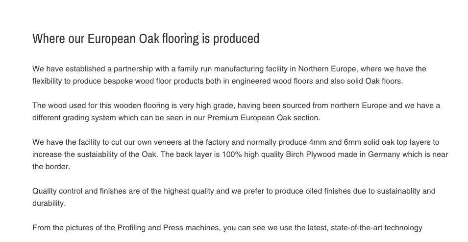 Our European Oak Flooring