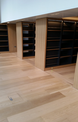 Science Museum Library - Extra Wide Wood Flooring