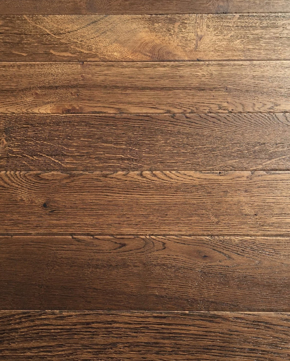 Antique Fumed Dark Brown Oiled Engineered Oak Border 90mm Wide | TW-E594