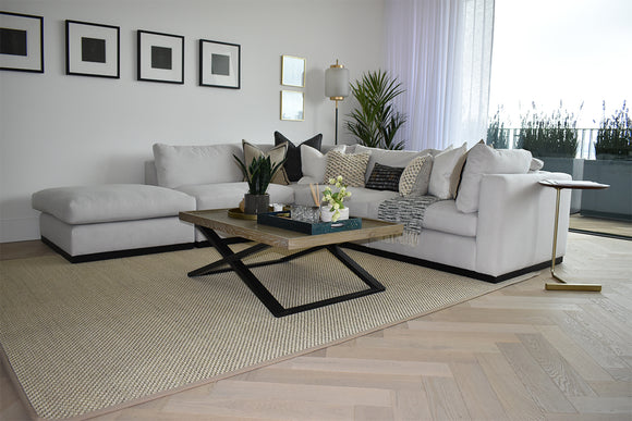 Herringbone Parquet Engineered Brushed White Oiled Oak L&R 120 | TW-E942