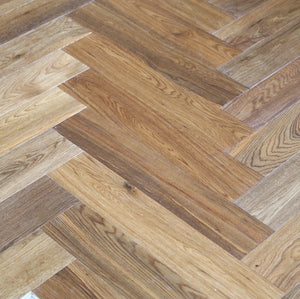 Herringbone Parquet Block Fumed Oiled Oak | TW-E946
