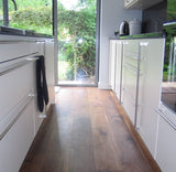 Black American Walnut Flooring Lacquered Finish - Kitchen