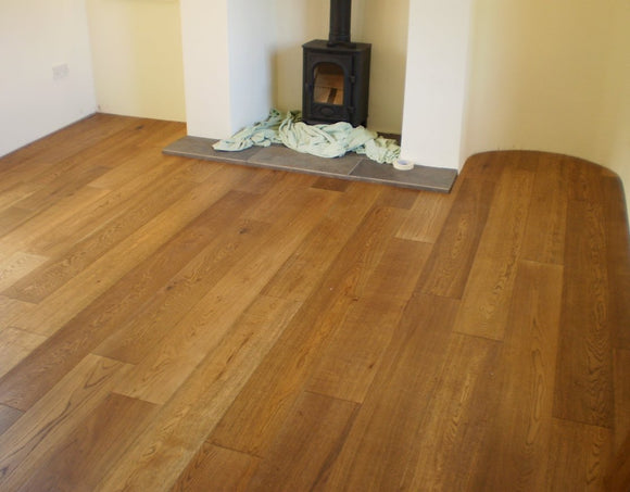 Brushed Lightly Fumed Oak Flooring UV Oiled Finish | E124